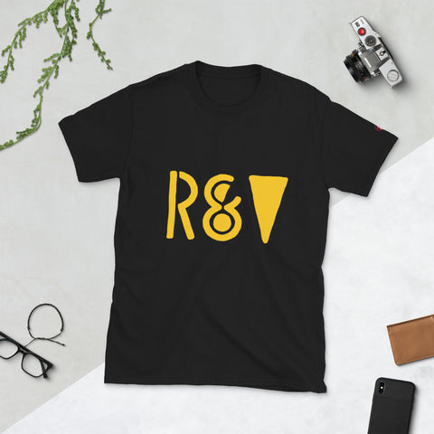 xDMWDx R&V Book 1 Gold Print Unisex T-Shirt