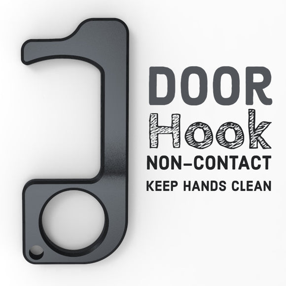 DOOR HOOK - NON-CONTACT - KEEP HANDS CLEAN