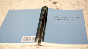 Clarify Simplify Align Quarterly Planner & Journal