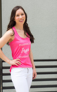 Pharmacists Inspire Pharmacists Tank Top for women in pharmacy. Pharmacist gift. Pharmacy student gift. Summer pharmacist outfit. Spark Joy in Healthcare community and shop by Dr. Jessica Louie.