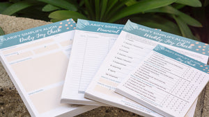 Clarify Simplify Align Joy Check Notepad and KonMari Method to check-in daily or weekly. Includes ratings system to ensure work-life alignment and harmony. Joy at Work philosophy.