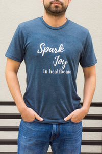 Spark Joy in Healthcare Tee T-shirts community, mentorship and coaching for pharmacists and healthcare professionals. Bring JOY back into healthcare. Pharmacist gift. Healthcare gift. Medicine gift. Nursing student gift.