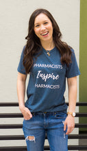 Load image into Gallery viewer, Pharmacists Inspire Pharmacists Tees and T-shirts for women and men unisex sizing. Spark Joy in Healthcare community, mentorship and coaching for pharmacists and healthcare professionals. Bring JOY back into healthcare. Pharmacist gift. Pharmacy student gift.