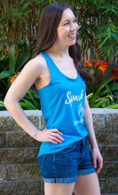 Load image into Gallery viewer, Spark Joy in Healthcare Tank Top for women in pharmacy, medicine and healthcare.. Pharmacist gift. Pharmacy student gift. Summer pharmacist outfit. Spark Joy in Healthcare community and shop by Dr. Jessica Louie.