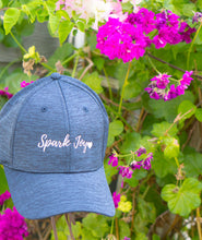 Load image into Gallery viewer, Spark Joy Baseball Hat to bring joy into every day. Celebrate Marie Kondo and the KonMari Method everyday with this unisex baseball cap. Pharmacist gift. Pharmacy student gift. Spark Joy in Healthcare community, mentorship and coaching for pharmacists and healthcare professionals. Bring JOY back into healthcare.