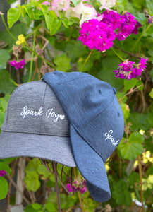 Spark Joy Baseball Hat to bring joy into every day. Celebrate Marie Kondo and the KonMari Method everyday with this unisex baseball cap. Pharmacist gift. Pharmacy student gift. Spark Joy in Healthcare community, mentorship and coaching for pharmacists and healthcare professionals. Bring JOY back into healthcare.