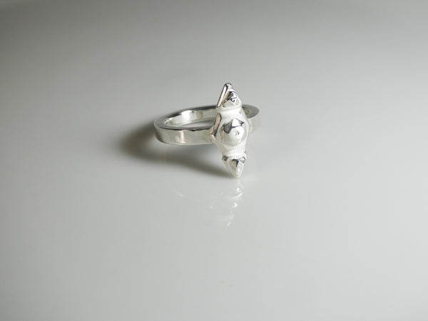 The Niner Oxy Ring in 935 Argentium Silver