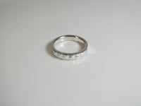 Lucky Seven Carbon Ring in 935 Argentium Silver
