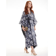 Load image into Gallery viewer, Organic Peace Silk Kimono Gown in Full-length