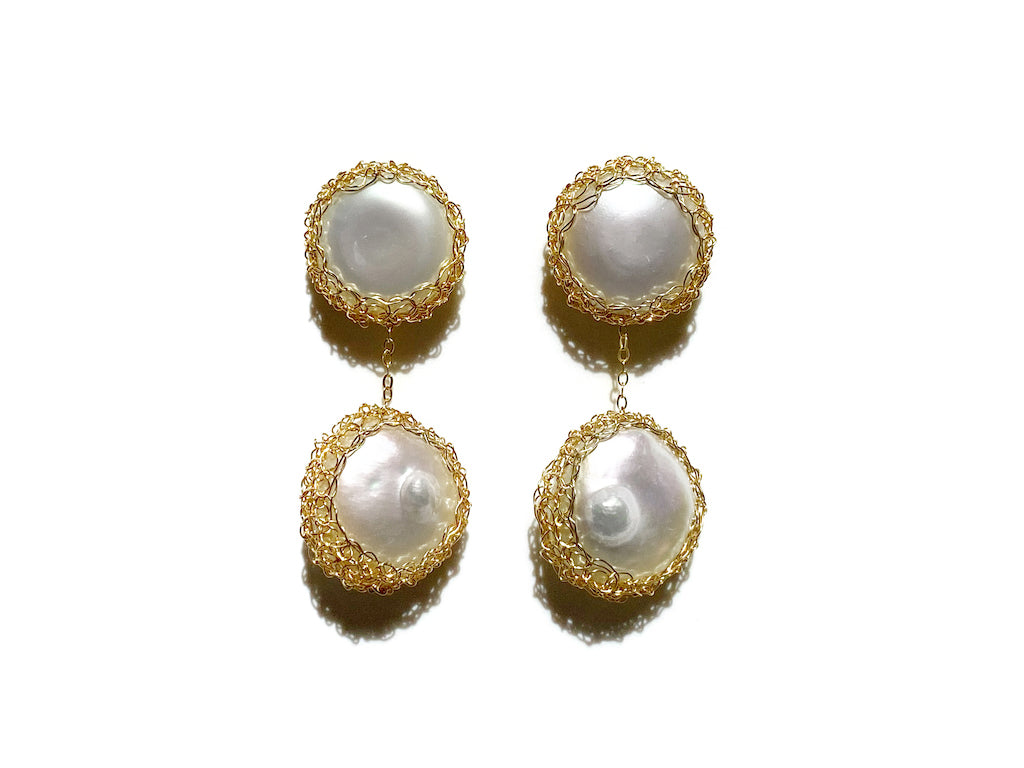 Angie 14k Gold-filled Freshwater Baroque Pearl Drop Earrings