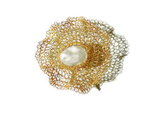 Load image into Gallery viewer, Flora 14K Gold-filled Freshwater Barque Pearl Brooch