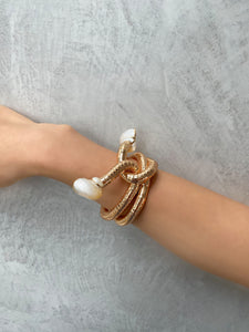 Wavy50 Choker and Bangle