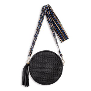 Moyo Drum Bag with Jacquard Strap, Black