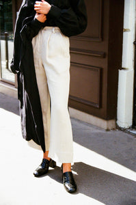 The Wabi Trousers in Ivory