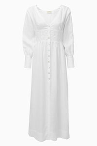 The Gertrude Dress in White