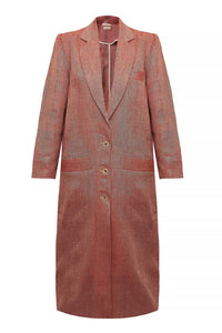 The Peppi Duster Coat in Ruby Red
