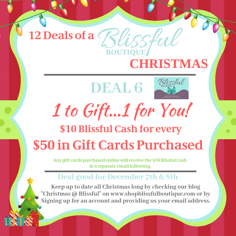 Blissful Deal 6:  12 Blissful Deals of Christmas