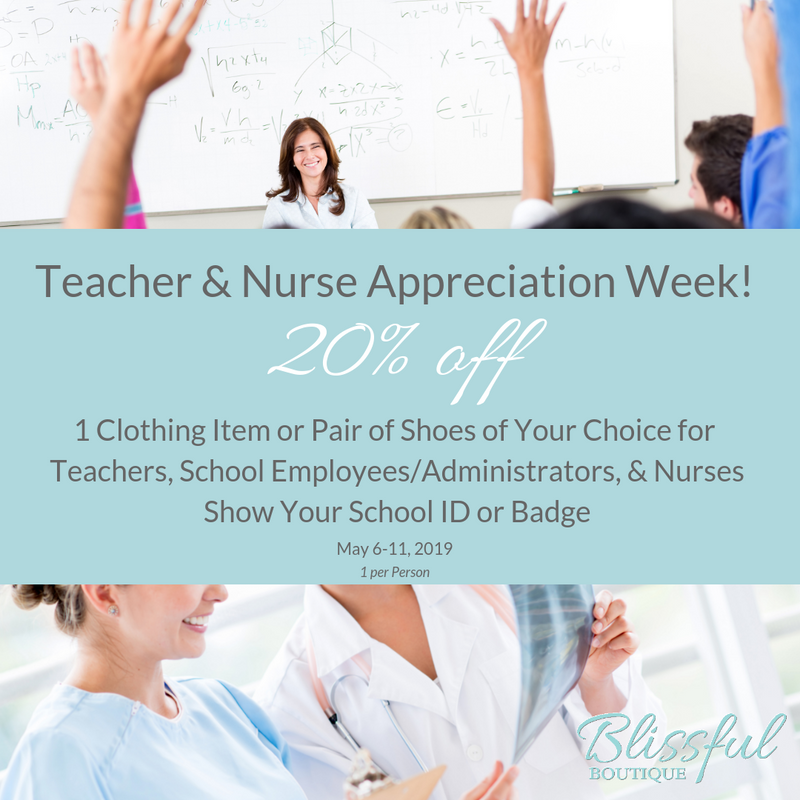 Teacher & Nurse APPRECIATION Week!
