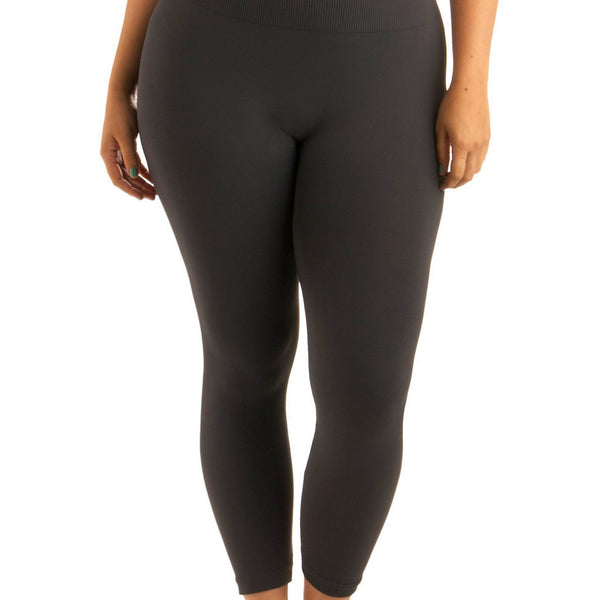 Plus Charcoal Leggings - Blissful Boutique