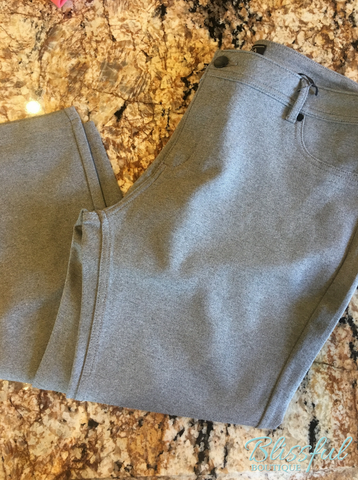 Heather Grey Ponte Pants, Plus