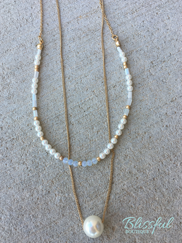 Pearl Double Layer Necklace