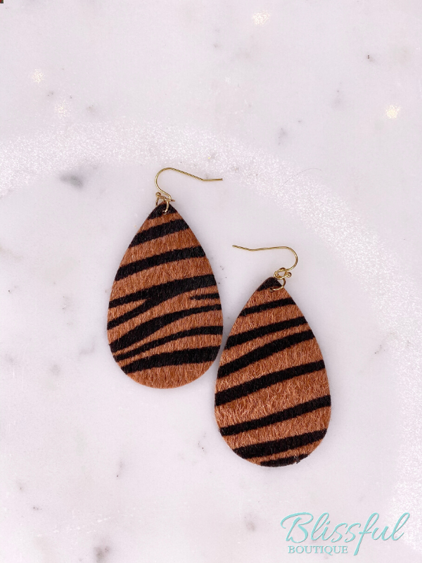 Zebra Printed Earrings