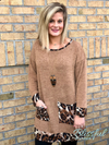 Mocha Brushed Leopard Pocket Tunic