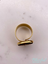 Wood Monogram Ring