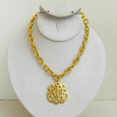 Gold Universal Monogram Necklace