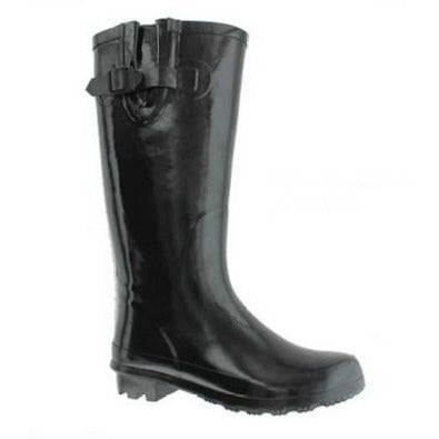 Black Tall Rainboots - Blissful Boutique
