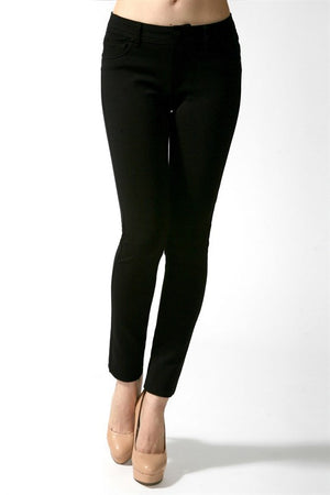 Black Ponte Pants, Plus - Blissful Boutique