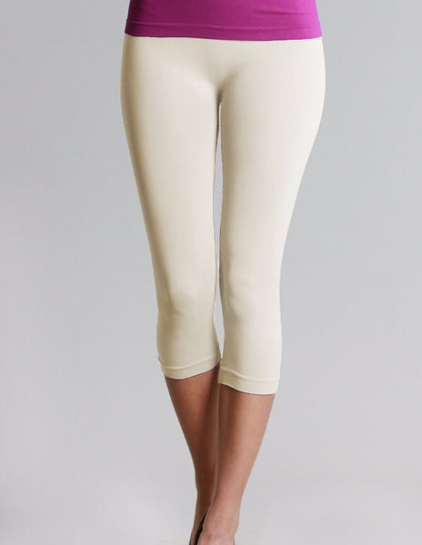 Ivory Capri Leggings