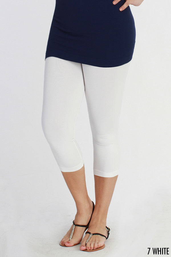 Plus Capri Leggings - Blissful Boutique