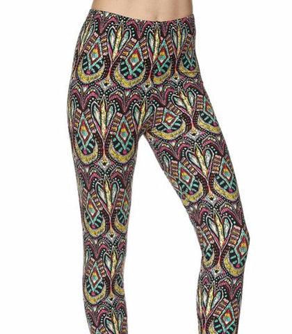 Aztec Painting Printed Leggings