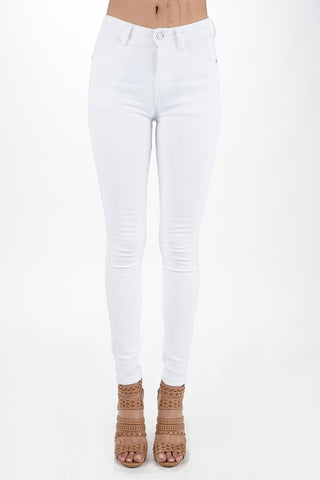 White Skinny Denim