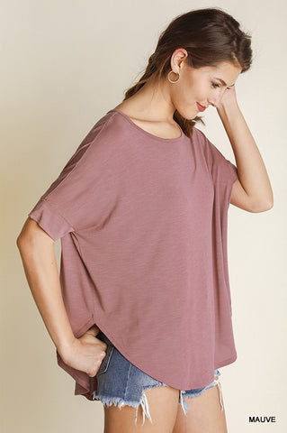 Mauve Top w/ Back Slit