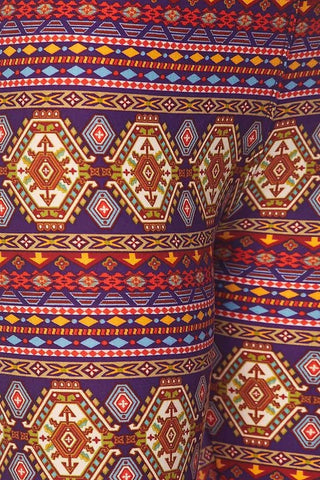 Aztec Printed Capri Leggings