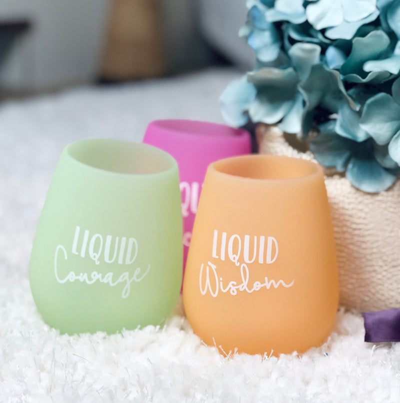 Stemless Silicone Wine Cup