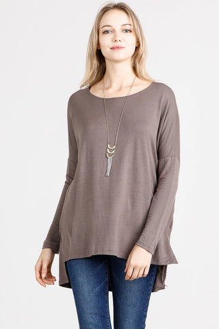 Taupe Bamboo French Terry Tunic