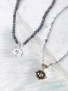 Bee Coin Stone Short Necklace