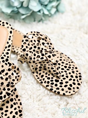 Cheetah Sandal Detail