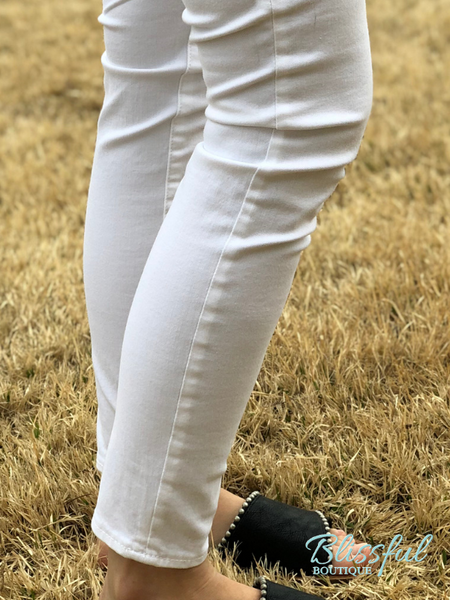 White Sarah Skinny Leg Denim