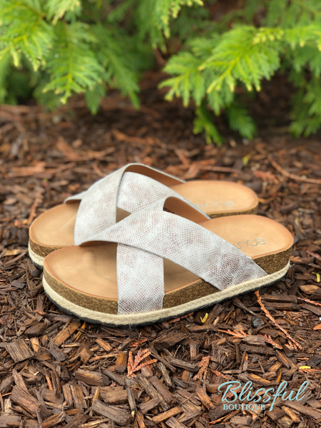 Natural Cross Platform Sandal