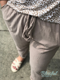 Taupe Distressed Pants