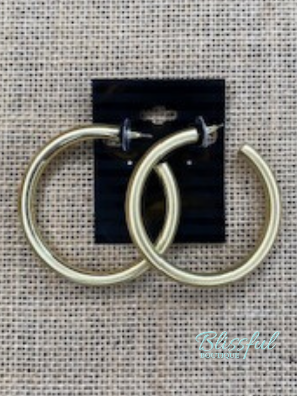 Medium Satin Thick Hoops