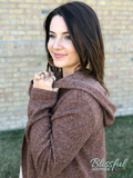 Toffee Hooded Cardigan with Pockets