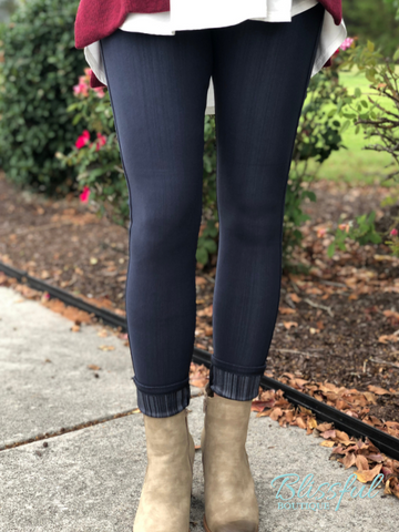 Charcoal Denim Jeggings