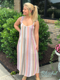 Mauve Stripe Back Tie Jumpsuit