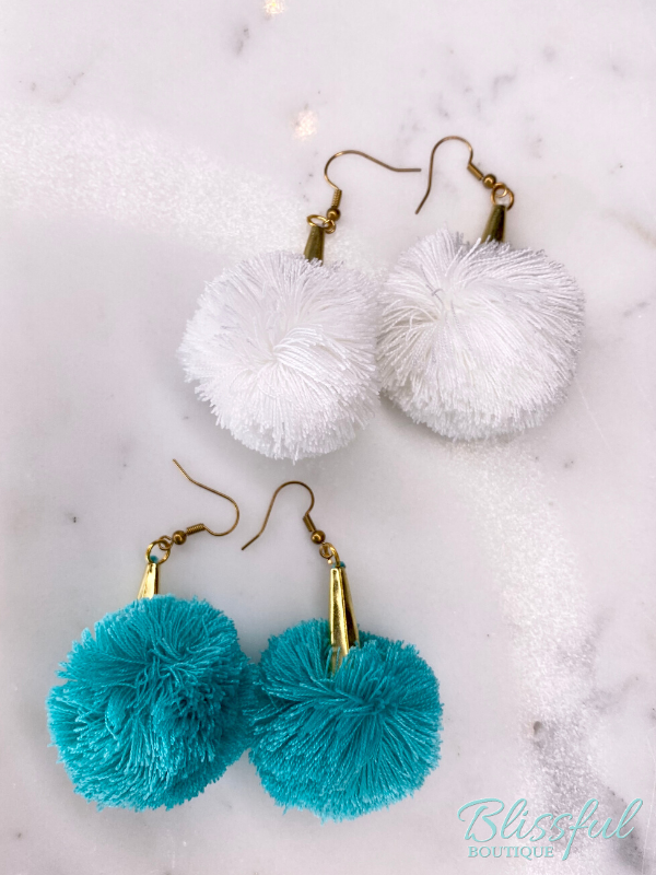 Large Pompom Earrings