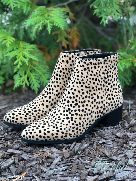 Cheetah Print Ankle Bootie